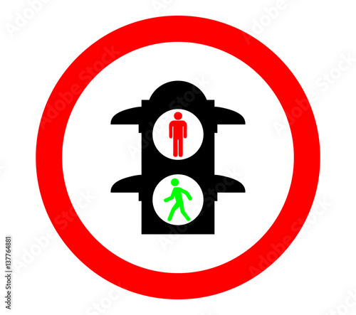 """Pedestrian lights icon"" Stock image and royalty-free ..."