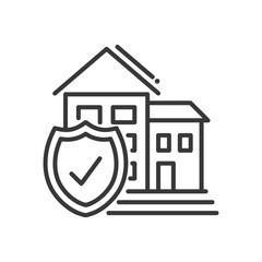 Insurance - vector modern line design illustrative icon