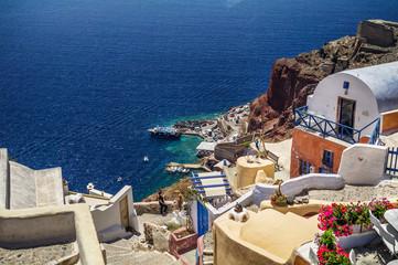 Traditional architecture of Santorini island, Greece