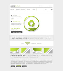 Eco Website Interface Template, Vector Illustration, Simple Design.