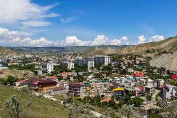 Small Crimean town cityscape