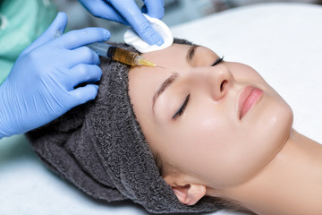 procedure Plasmolifting injection. plasma injection into skin o