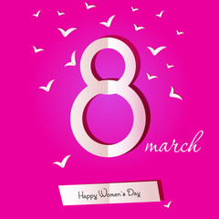 March 8 Women's Day card