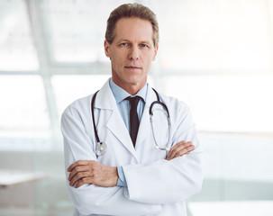 Handsome mature doctor