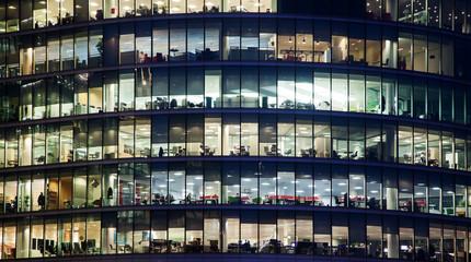 windows of Skyscraper Business Office, Corporate building in London City, England, UK