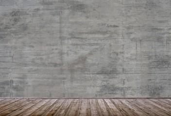 Leerer Raum Mit Steinwand Und Holzboden