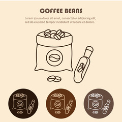 Coffee sack isolated icon vector illustration design.