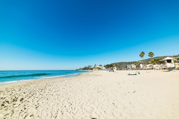 White sand in Laguna beach