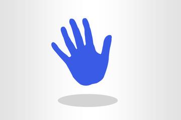 outline of human palm