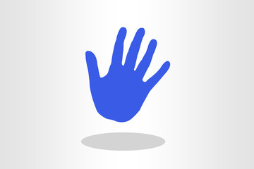 Illustration of right hand palm against plain background
