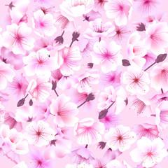 Seamless pattern with cherry blossom, Blossoming Oriental , Sakura Flowering Spring Festival Hanami