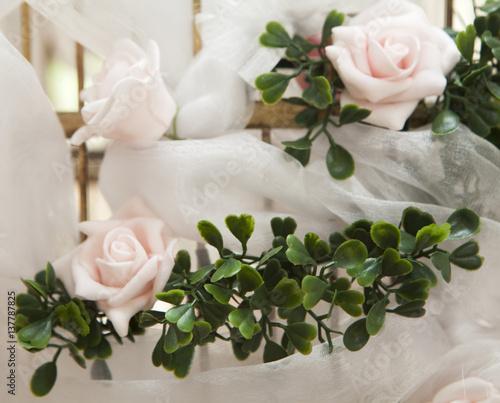 D coration florale rose de f te stock photo and royalty for Decoration florale