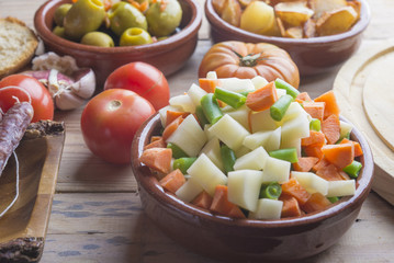 Tapas typical food in Spain