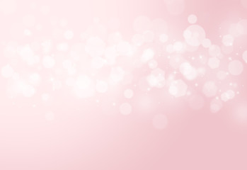 Pink sparkles glitter and rays lights bokeh abstract valentine background/texture.