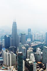 Beautiful view from Kuala Lumpur Tower. Malaysia.