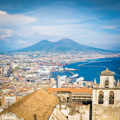 Foto op Plexiglas Napels Naples, view from La Certosa di San Martino