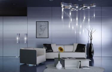 Office anteroom interior design, 3d rendering