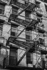 New York city. Building. Old style image black and white
