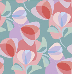 Vector illustration of repeating floral ornament.