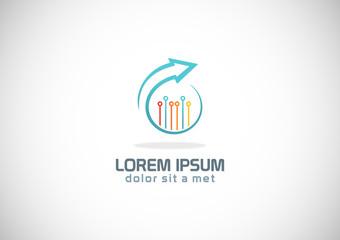 round business arrow technology logo