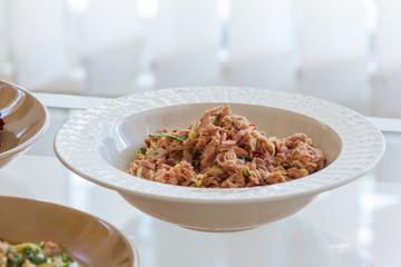 delicious fresh tuna mixed