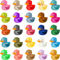 Colorful baby shower duck