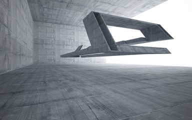 Empty dark abstract concrete room smooth interior. Architectural background.  3D illustration and