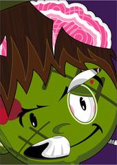 Cartoon Halloween Zombie Frankenstein Monster