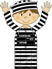 Cute Cartoon Prisoner