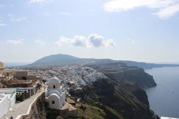 beauty in the village of Firostefani, Santorini