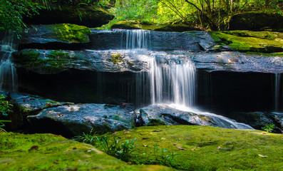 Wall Murals Roe Waterfall in deep forest, where there is an abundance of nature.