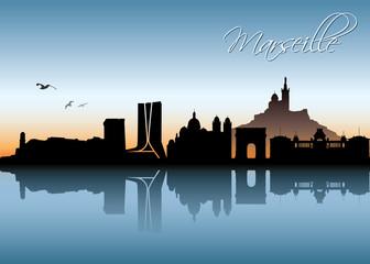 Marseille skyline
