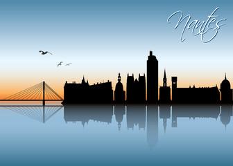 Nantes skyline