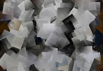 Mosaik Kubismus in schwarz und weiß