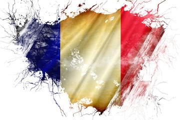 Grunge old France  flag