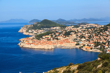 Panoramic view of the city of Dubrovnik.