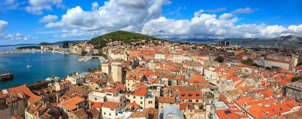 Panoramic view of the city of Split, in Croatia