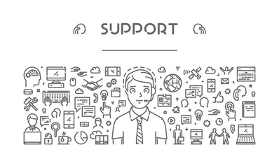Vector line concept of support.
