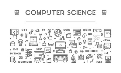 Line web banner for computer science