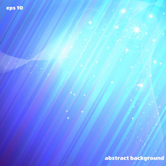 Abstract vector background. Cold glow, stars and waves.