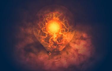 lightning from light bulb