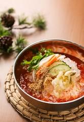 kimchimali guksu. Cold Kimchi Noodles