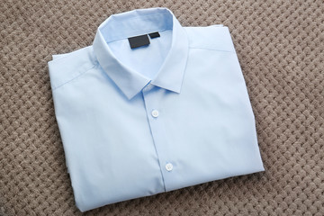 New man shirt on grey background