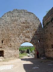 Gate ancient Perge (VII century BC). Antalya