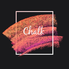 Textures of chalk and charcoal. Vector brush strokes. Soft pastel colors. Decorative frame. High resolution image. Grunge template. For registration of design projects.