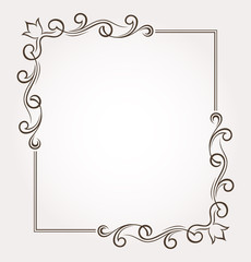 Frame and page decoration. Vector illustration