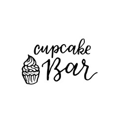 Vector vintage bakery hand lettering logo, badge. Typography design elements, modern calligraphy illustration with cookie illustrations for prints, cards, posters, products packaging, branding.