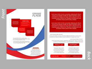 creative vector template design illustration for Business Brochures or Flyer.
