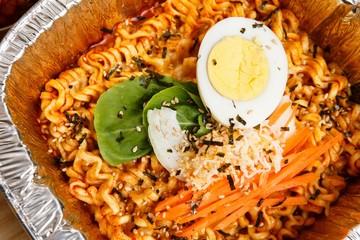 buldak bokkeum myeon. spicy chicken ramen