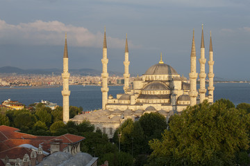The Blue Mosque in the afternoon, Istanbul. Turkey.
